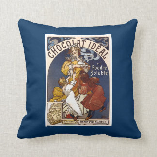 Vintage French Chocolate Pillow