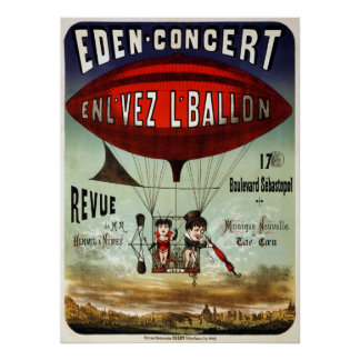 Vintage French Circus Performance Poster
