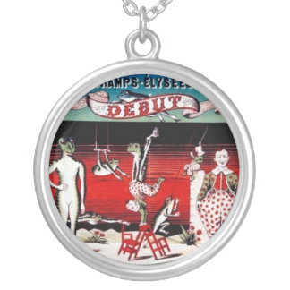 Vintage French Circus Poster Art Necklace