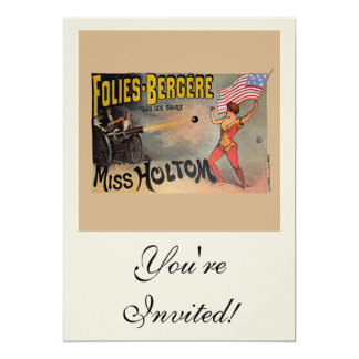 Vintage French Circus Sideshow Poster 5x7 Paper Invitation Card