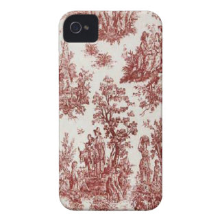 Vintage French Country Red Toile Blackberry Bold iPhone 4 Case