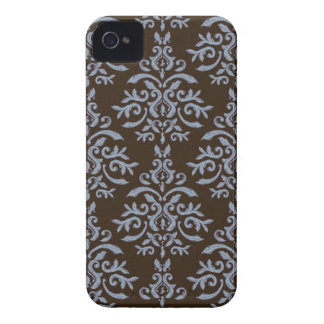 Vintage French Damask Mocha Blue iPhone4/4S case iPhone 4 Case-Mate Cases