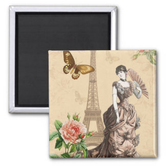Vintage french fashion elegant magnet