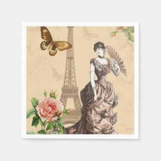 Vintage french fashion elegant paper napkins paper napkin