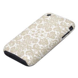 Vintage french floral art nouveau pattern tough iPhone 3 case