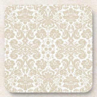 Vintage french floral art nouveau pattern coaster