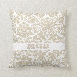 Vintage french floral art nouveau pattern throw pillows