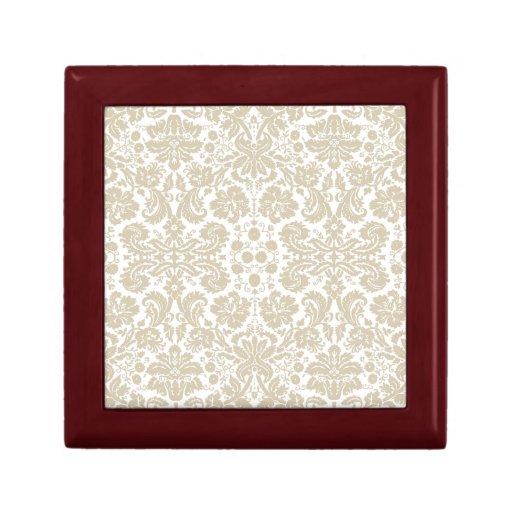 Vintage french floral art nouveau pattern keepsake box