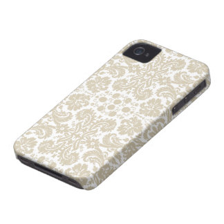 Vintage french floral art nouveau pattern iPhone 4 case