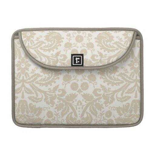 Vintage french floral art nouveau pattern sleeve for MacBook pro