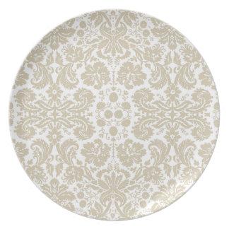 Vintage french floral art nouveau pattern party plates
