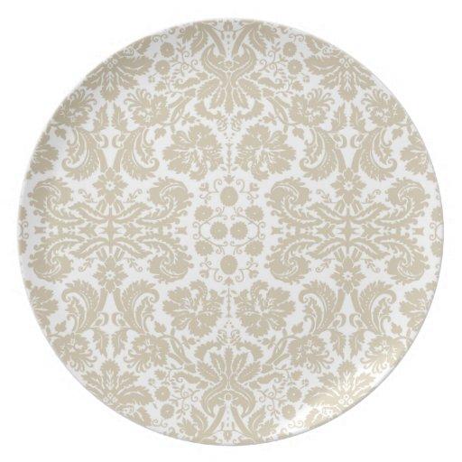 Vintage french floral art nouveau pattern dinner plates