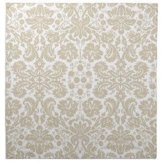 Vintage french floral art nouveau pattern printed napkin