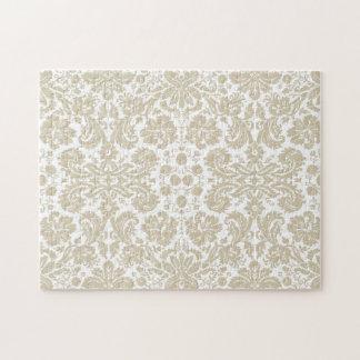 Vintage french floral art nouveau pattern puzzles
