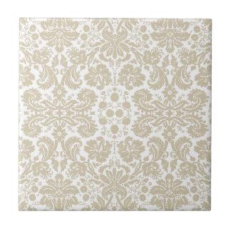 Vintage french floral art nouveau pattern small square tile