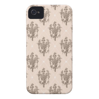 Vintage French Floral Pattern iPhone 4 Cases