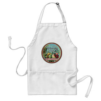 Vintage French Fruit Label Standard Apron