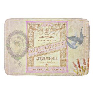 Vintage French Lavender Perfume Collage Bath Mats