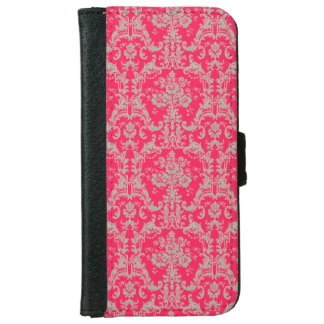 Vintage French Ornamental Wallpaper Pattern iPhone 6 Wallet Case