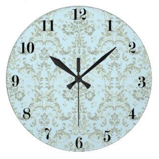 Vintage French Ornamental Wallpaper Wall Clocks