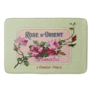 Vintage French Perfume Floral Ad Art Bath Mats