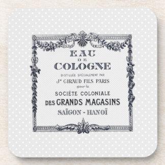 Vintage French Perfume Label Coaster