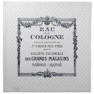Vintage French Perfume Label Napkin