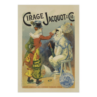 Vintage French Posters - Clowns Circus
