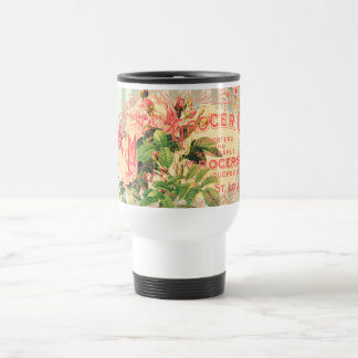 Vintage French, roses and advertising postcard Coffee Mugs