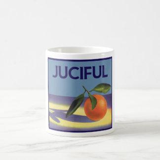 Vintage Fruit Crate Label Art, Juciful Oranges Basic White Mug