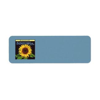 Vintage Fruit Crate Label Art Orangedale Sunflower Return Address Label