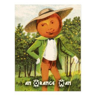 Vintage Fruit Postcard Series Orange