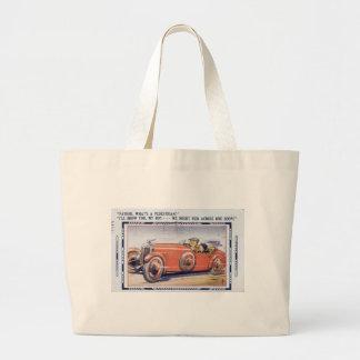 Vintage Funny Dad's Driver's Ed Jumbo Tote Bag