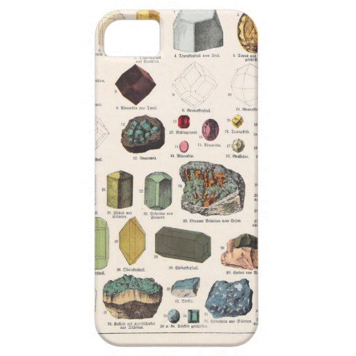 Vintage Gemstone Book Print Case For iPhone 5/5S