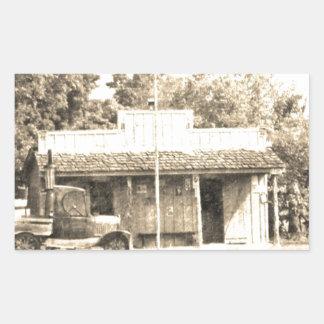 Vintage General Store with Antique Auto Rectangular Sticker