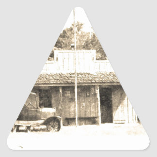 Vintage General Store with Antique Auto Triangle Sticker