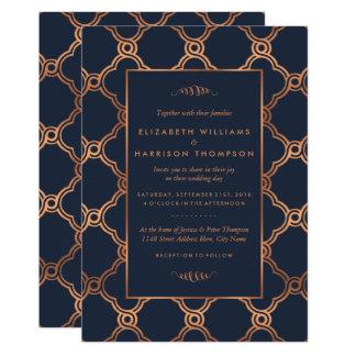 Vintage Geometric Art Deco Gatsby Wedding Card