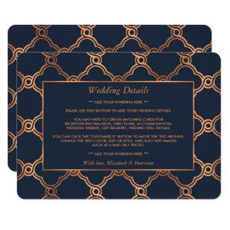 Vintage Geometric Art Deco Gatsby Wedding Detail Card