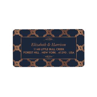 Vintage Geometric Art Deco Gatsby Wedding Label