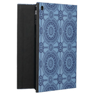 Vintage Geometric Circles in Blue Case For iPad Air