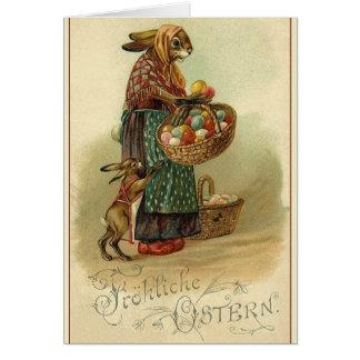 Vintage German Easter Card.  Fröhliche Ostern! Greeting Card