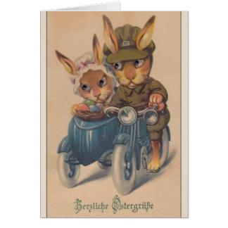 Vintage German Easter Card.  Herzliche Ostergrüße! Greeting Card