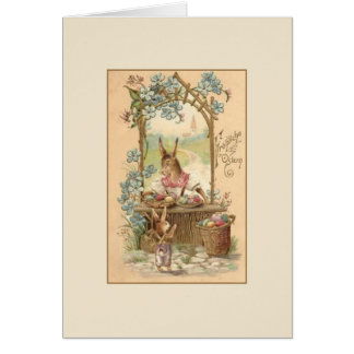 Vintage German Fröhliche Ostern Easter Card