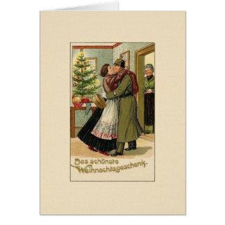 Vintage German Soldier Christmas Greeting Card