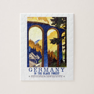 Vintage Germany Black Forest Art Jigsaw Puzzle