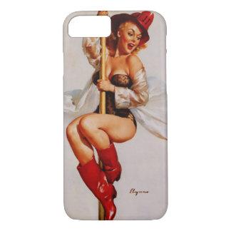 Vintage Gil Elvgren Firefighter Pin Up Girl iPhone 8/7 Case