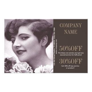 vintage girl SPA beauty hair salon makeup artist 14 Cm X 21.5 Cm Flyer