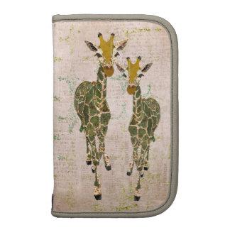 Vintage Gold & Jade Giraffes Planner