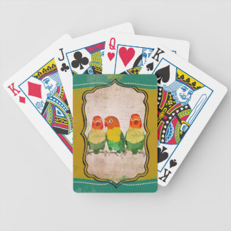 Vintage Gold Love Birds Card Deck Bicycle Playing Cards