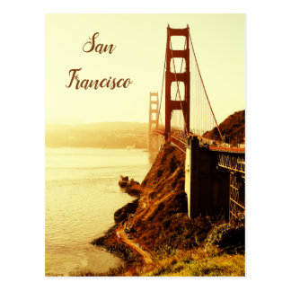Vintage Golden Gate Bridge in San Francisco Postcard